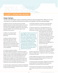 FY14-15 Recommended Budget Executive Summary