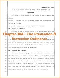 Chapter 38A - Fire Prevention & Protection Ordinance