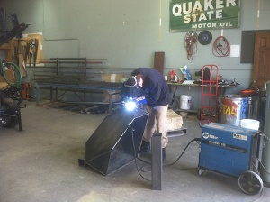 Welding Juvenile Hall Sign