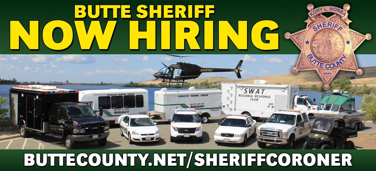Butte County Sheriff Now Hiring