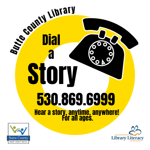 Butte County Library Dial-a-Story Logo
